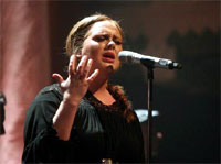 Adele. performing live at the Paradiso. Amsterdam, Netherlands - 08.04.11.