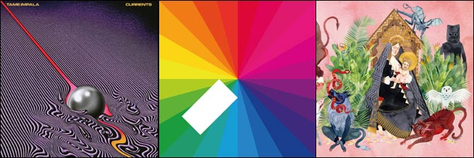 Tame Impala - Currents, Jamie XX - In Colour, Father John Misty  - I Love You, Honeybear