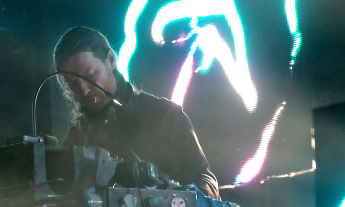 Aphex Twin performing at Field Day 2017