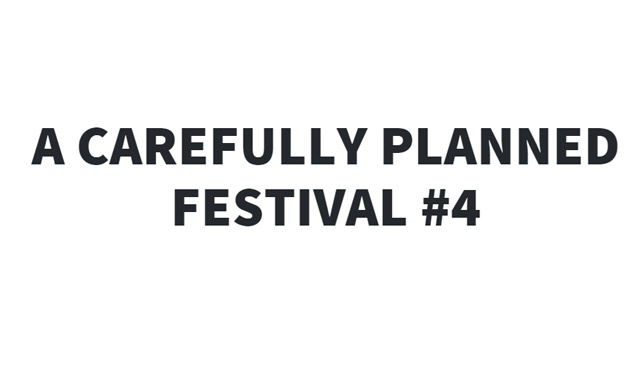 Carefully Planned festival #4  - Various venues, Manchester UK - 18th-19th October 2014 Preview