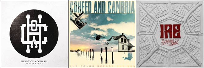 Heart of a Coward - Deliverance, Coheed & Cambria - The Color Before The Sun, Parkway Drive - IRE