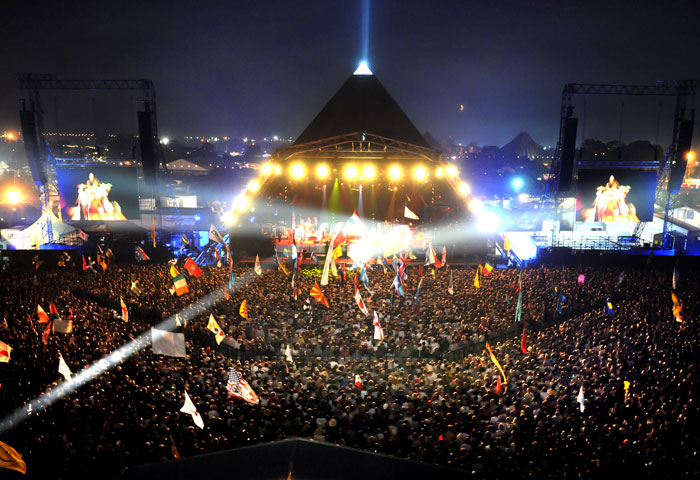 The Pyramid Stage Glastonbury Festival