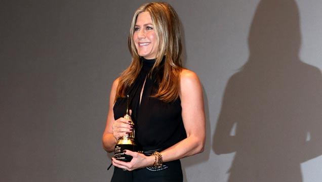 Jennifer Aniston receives the Montecito Award