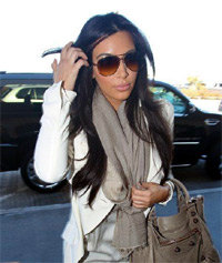 Kim Kardashian. leaving home on her way to LAX Airport. Los Angeles, California - 03.01.12