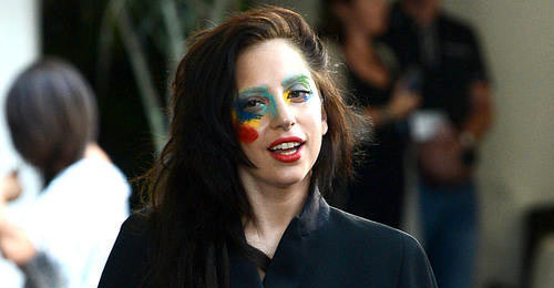 Lady Gaga with face paint