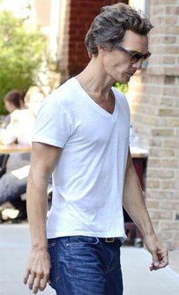 A noticeably thin Matthew McConaughey. seen returning to his hotel in Manhattan. New York City, USA - 30.08.12
