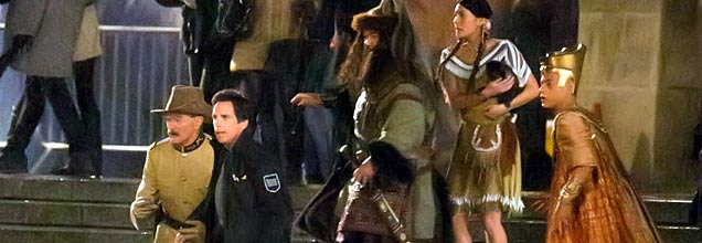 filming scenes for Night at the Museum 3