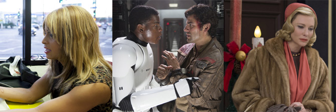Tangerine, Star Wars: The Force Awakens, Carol