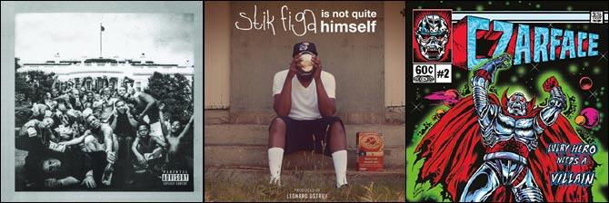 Kendrick Lamar - To Pimp A Butterfly, Stik Figa - Stik Figa Is Not Quite Himself, Czarface - Every Hero Needs A Villain