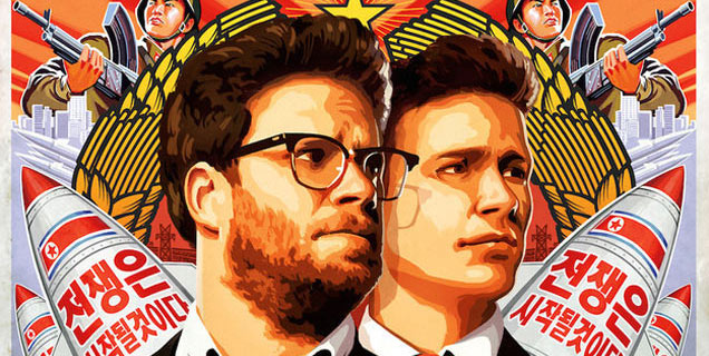 Seth Rogen and James Franco in The Interview poster