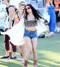 Vanessa Hudgens Celebrities at the 2012 Coachella Valley Music and Arts Festival - Week 1 Day 3 Indio, California - 15.04.12