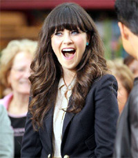 Zooey Deschanel. at The Grove to film an appearance for the entertainment television news programme 'Extra' . Los Angeles, California - 04.10.11