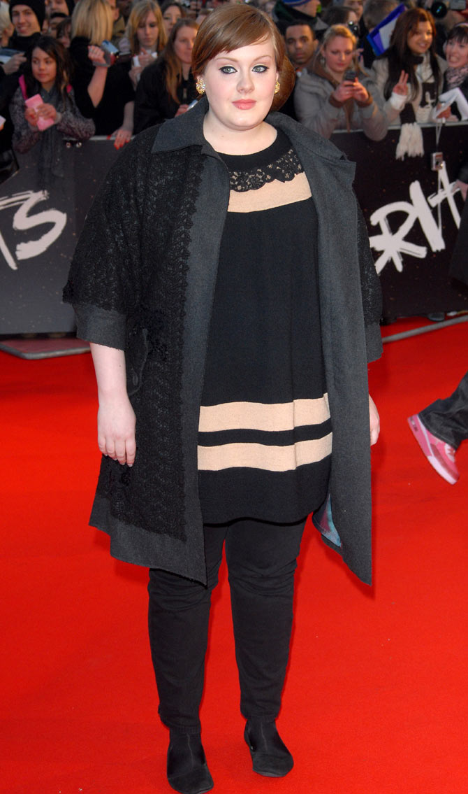 Adele at the 2008 Brit Awards. Credit: Famous