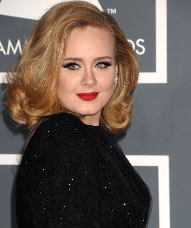 Adele at the 2012 Grammy Awards. Credit: Famous