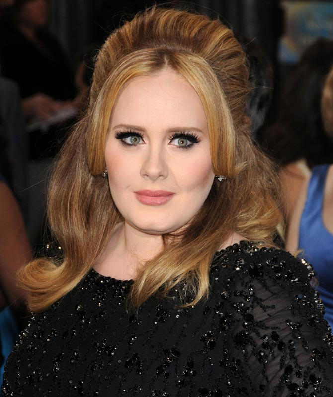 Adele at the Oscars in 2013. Credit: Famous
