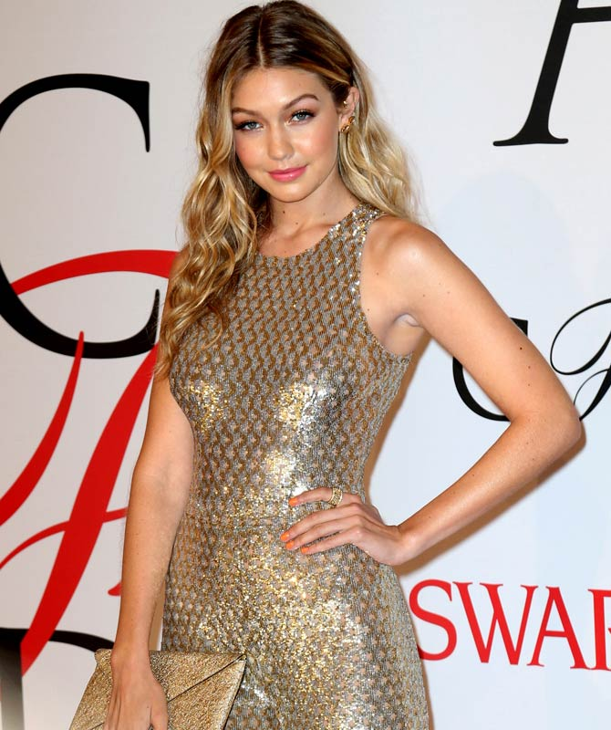Gigi Hadid at the 2015 CFDA Fashion Awards in 2015. Credit: Famous