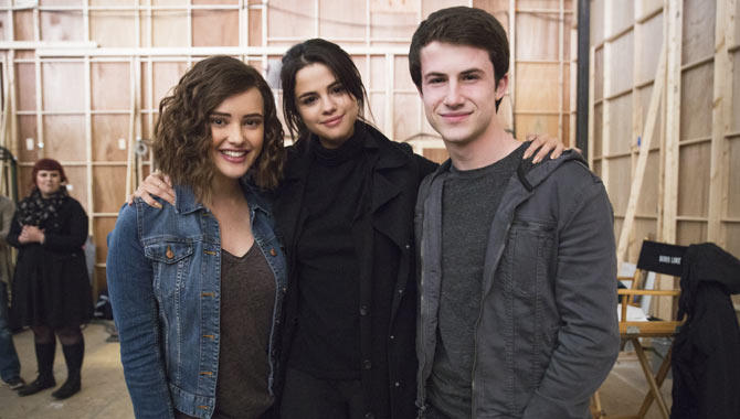 Katherine Langford, Selena Gomez and Dylan Minnette worked on '13 Reasons Why'