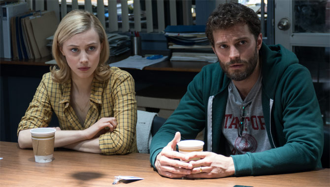 Jamie Dornan and Sarah Gordon in The 9th Life Of Louis Drax