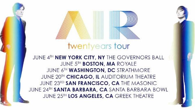 Tickets for Air's Twentyears US tour go on sale soon
