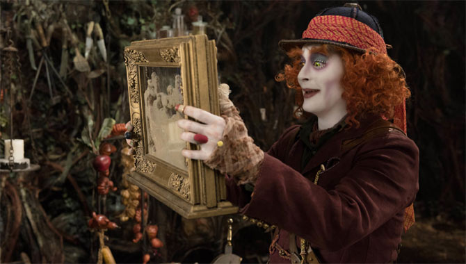 Johnny Depp once again stars as Mad Hatter