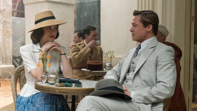 Brad Pitt And Marion Cotillard Loved The 1940s Stylings Of Allied