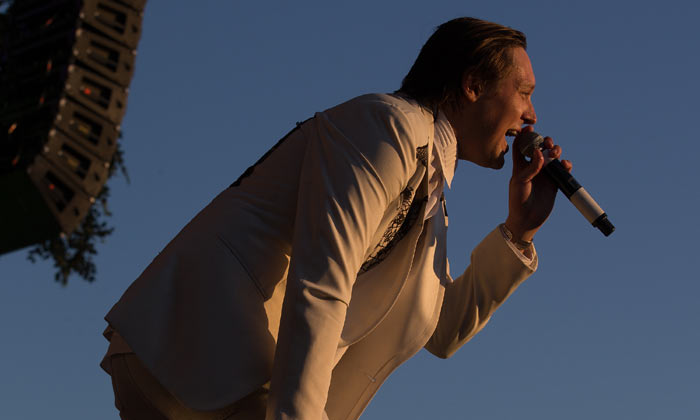 Arcade Fire's Win Bulter at British Summer Time