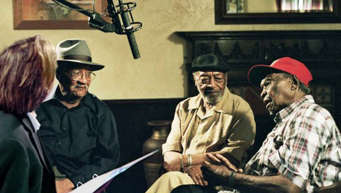 Homesick James, Robert Lockwood Jr. and Honeyboy Edwards are interviewed by Bernard MacMahon