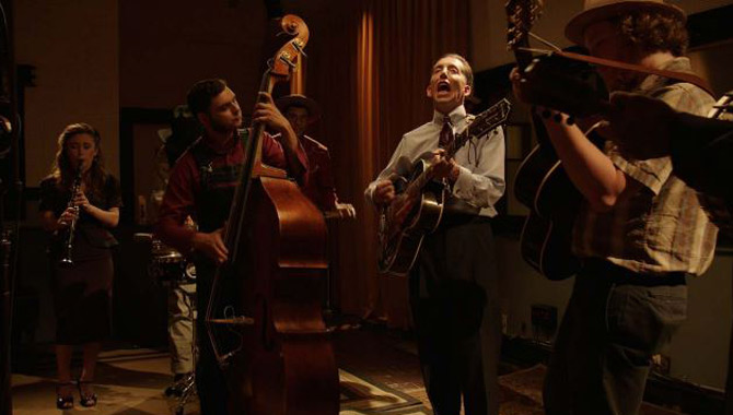 Pokey Lafarge records 'St. Louis Blues' in the studio
