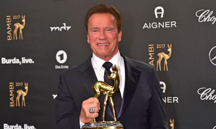 Arnold Schwarzenegger at the Bambi Awards