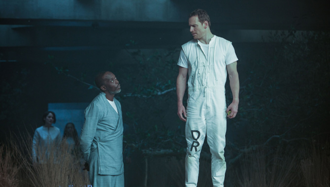 Michael K. Williams and Michael Fassbender in 'Assassin's Creed'