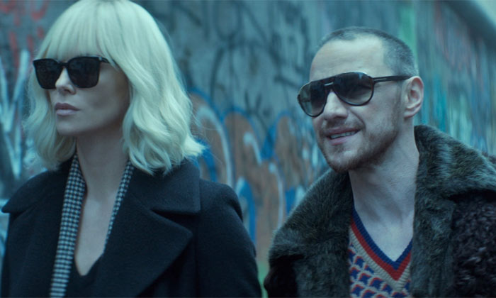 James McAvoy with Charlize Theron in Atomic Blonde