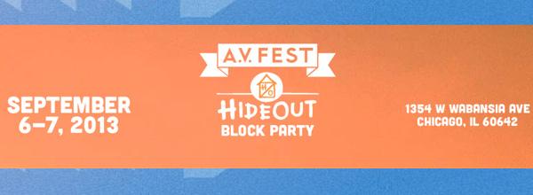 The AV Fest 2013 Logo