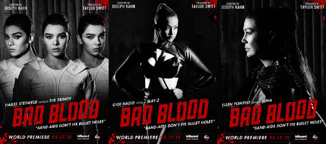 [L-R] Hailee Steinfeld, GiGi Hadid and Ellen Pompeo in 'Bad Blood'