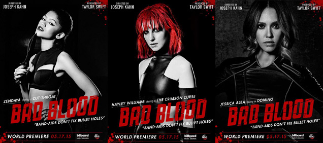 [L-R] Zendaya, Hayley Williams and Jessica Alba in 'Bad Blood'