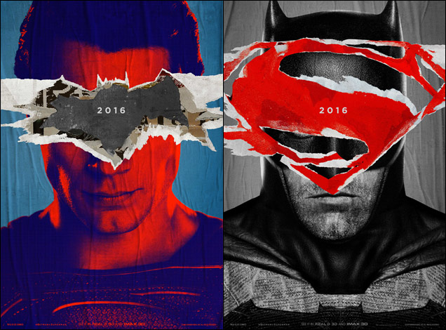 'Batman v Superman' poster