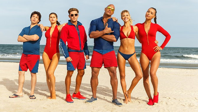 Zac Efron and Dwayne Johnson lead the stars of 'Baywatch'