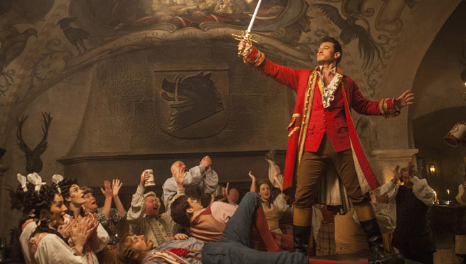 Luke Evans plays the villainous Gaston in the film