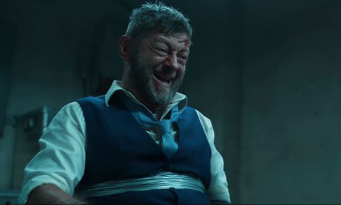 Andy Serkis is the villainous Klaw