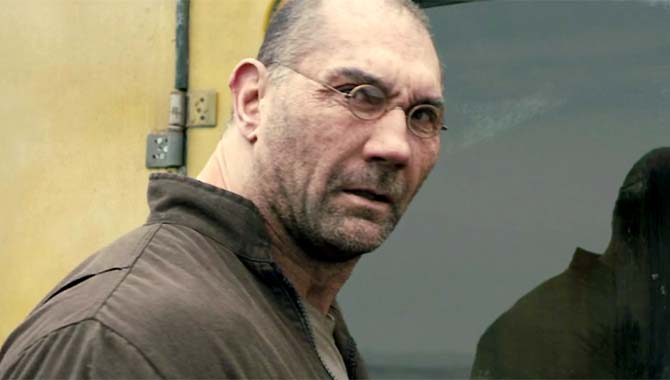 Dave Bautista also stars in the sci-fi sequel