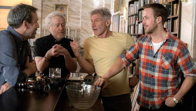 Denis Villeneuve, Ridley Scott, Harrison Ford and Ryan Gosling