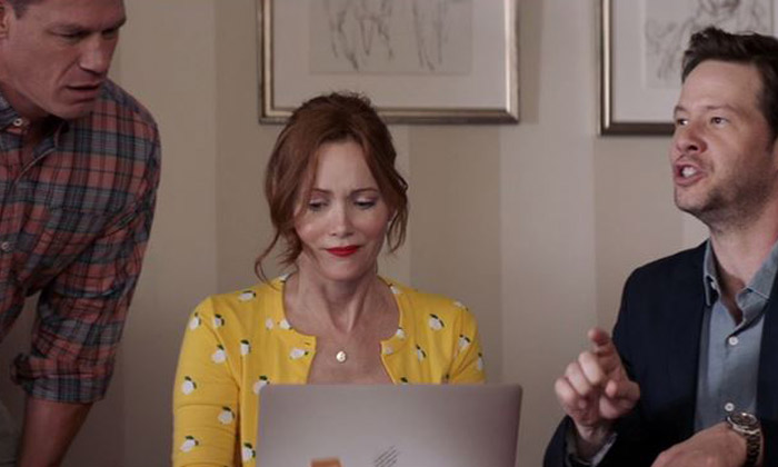 John Cena, Leslie Mann and Ike Barinholtz in 'Blockers'