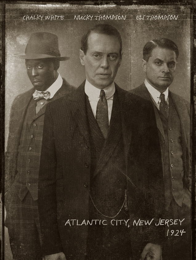 Michael Kenneth Williams, Steve Buscemi and Shea Whigham in 'Boardwalk Empire'