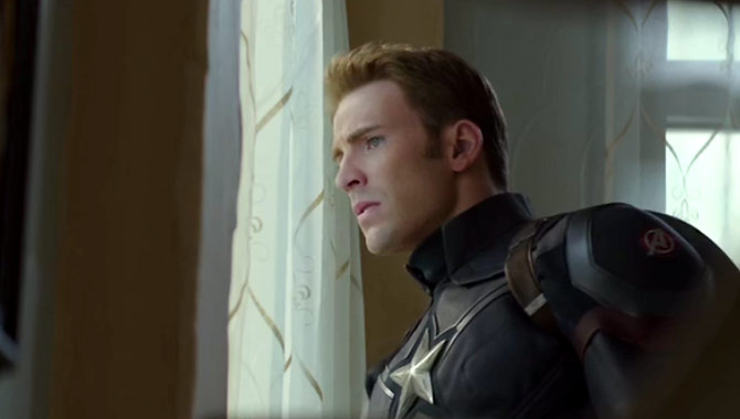 Chris Evans stars as Captain America