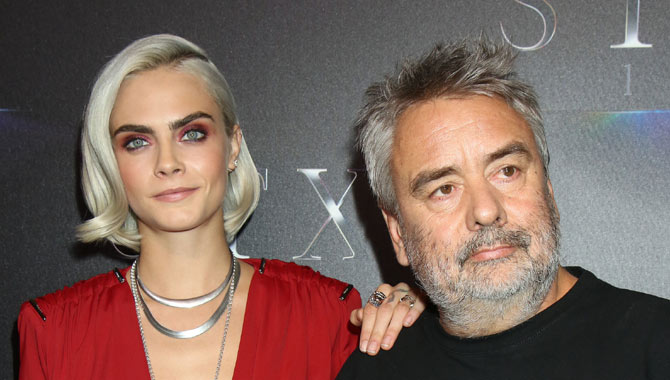 Luc Besson with Cara Delevingne at CinemaCon 2017