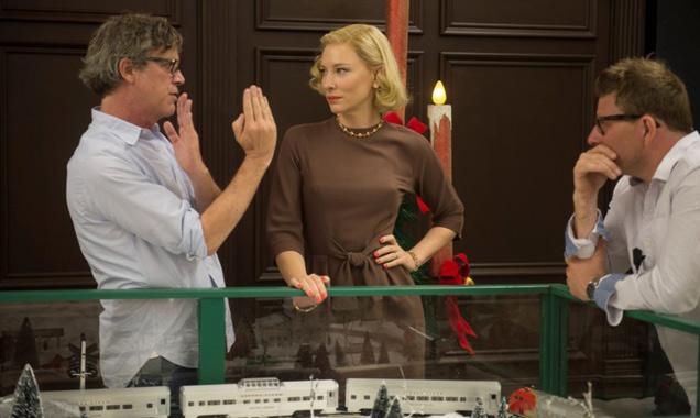 Cate Blanchett on the set of Carol