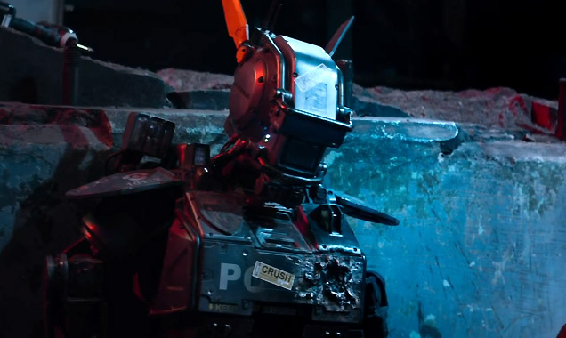 Chappie is played by Sharlto Copley - a longtime collaborator of Blomkamp's