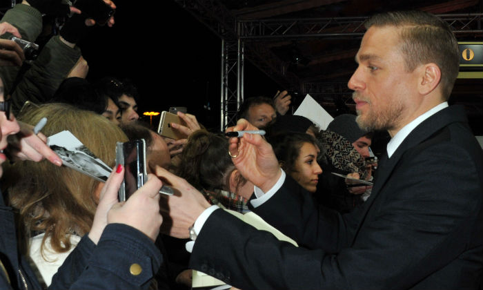 Charlie Hunnam at the premiere of 'The Lost City of Z'