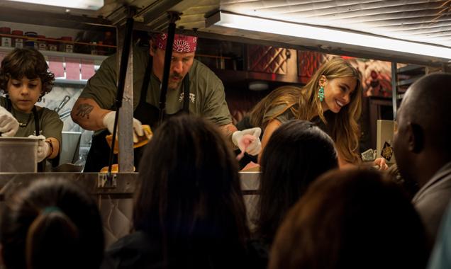 Jon Favreau with Sofia Vagara in  'Chef'