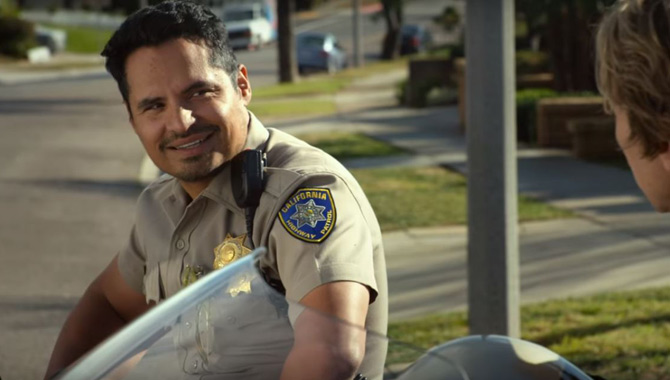 Michael Pena in 'CHIPS'