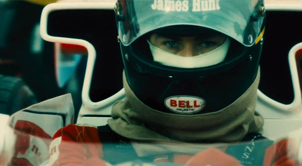 Chris Hemsworth as James Hunt in 'Rush'